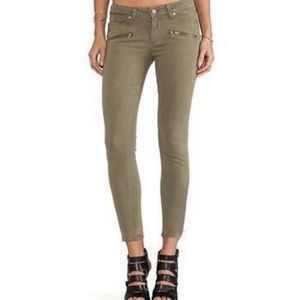 Paige Jeans Army Green Zip Detail